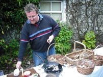 Bill cooking at rathsallagh