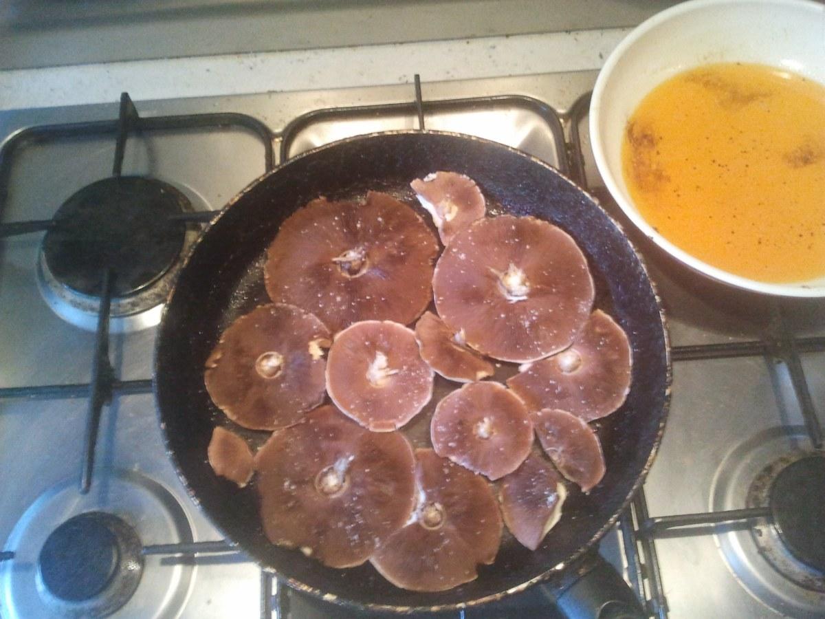 Pan of mushrooms